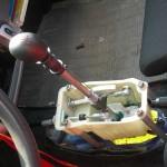 Lewarek zmiany biegów przeniesiony do kabiny