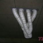Kolektor 4-2-1 od Górny Motorsport zawineliślimy bandażem termoizolacyjnym