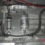 Układ paliwowy skończony. Dwie pompy paliwa i swirl pot