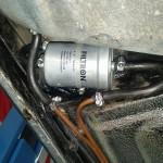Filtr paliwa wymianiony, stary pamiętał jeszcze serwis BMW:)