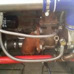 Troszkę przejrzało. Turbo odwrócone i podłączone. Czas na elektrykę i potem odpał.