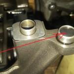 Usunięte wałki równoważące i kanał olejowy zaślepiony gumką i kulką z łożyska:)