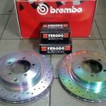 Tarcze tylne BREMBO ORO + Klocki Ferodo DS2500