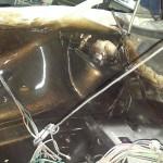 Komora silnika i czołowe wzmocnienie pomalowane. Możemy powoli zacząć składanie