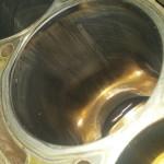 """Tak wyglądają tuleje po tzw """"ciasnym spasowaniu"""" silnika. Przebieg 6000KM"""