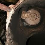 Po wyjęciu turbosprężarki okazało się że korpus jest popękany. Wymieniamy ją na K04