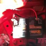 Akumulator zamontowany w bagażniku