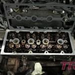 Etap II - wymiana wałków rozrządu, kolektora (standardowo był pęknięty) oraz turbo
