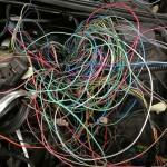 Kumulacja kabli z wczoraj:) Teraz już powinno ich ubywać