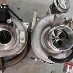 Po lewej oryginalne turbo, po prawej nowe EFR7163